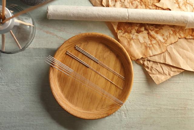 艾灸 艾灸工具 木盘 艾灸针.jpg