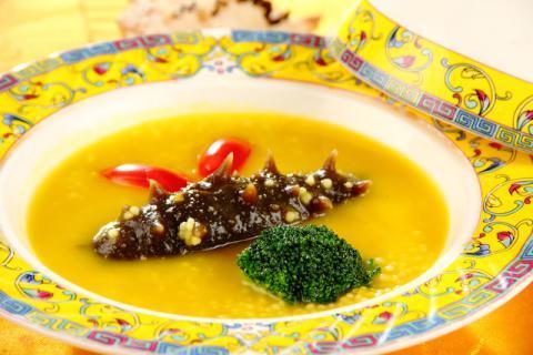 适合孕期的食物:海参小米粥