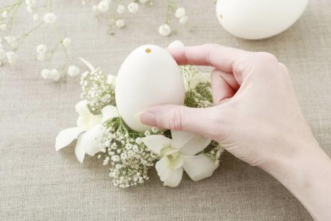 鹅蛋里装香椿果,补充体内的蛋白质