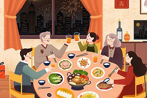 除夕吃年夜饭的由来和寓意