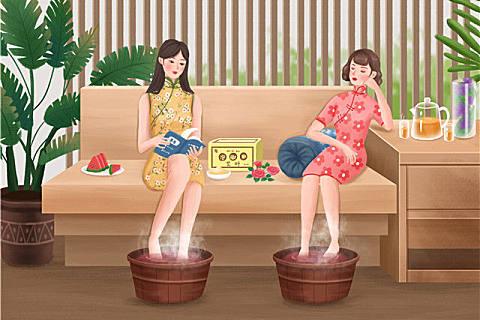 女性长期用艾草泡脚的好处